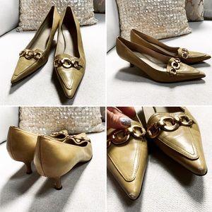 AK ANNE Klein STYLE:Dawnette Kitten Heels Leather